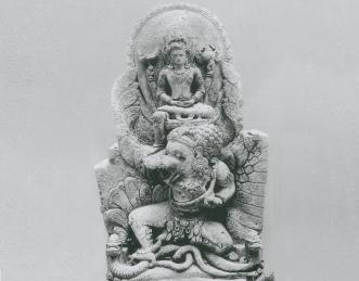 Prabu Airlangga dengan tunggangannya, Garuda